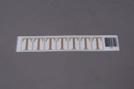 A021K4 Pochette de 50 lettres T 33mm