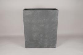 A021NM Jardinière fibre grise 60x23cm H74cm