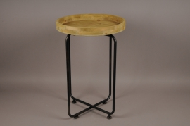 A021S0 Wooden and metal stand D45cm H65cm