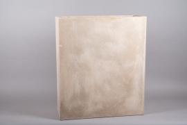 A021VV Sand fiberglass tall planter 30.5 x 80cm H93cm