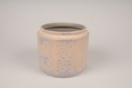 A021XD Cache-pot en céramique rose D16cm H13cm