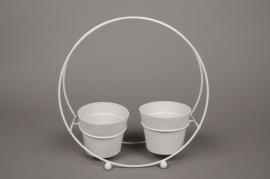 A022AY Porte-pots en zinc 9cm x 29cm H29cm