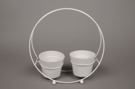 A022AY Zinc pot holders 9cm x 29cm H29cm