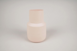 A022CC Vase en métal rose D12cm H17cm