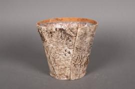 A022DZ Cache-pot en écorce bois D17 H15cm