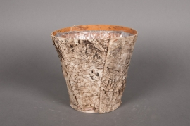 A022DZ Planter wood bark D17 H15cm