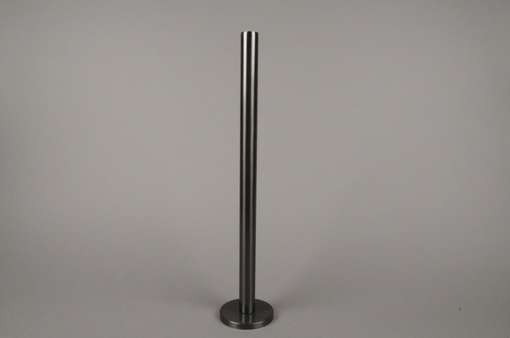 A022E0 Black metal candle holder H51.5cm