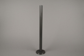 A022E0 Black metal candle holder H51.5cm