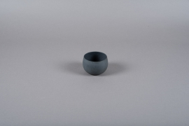 A022JY Cache-pot en métal gris D10cm H7cm