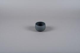 A022JY Grey metal planter D10cm H7cm