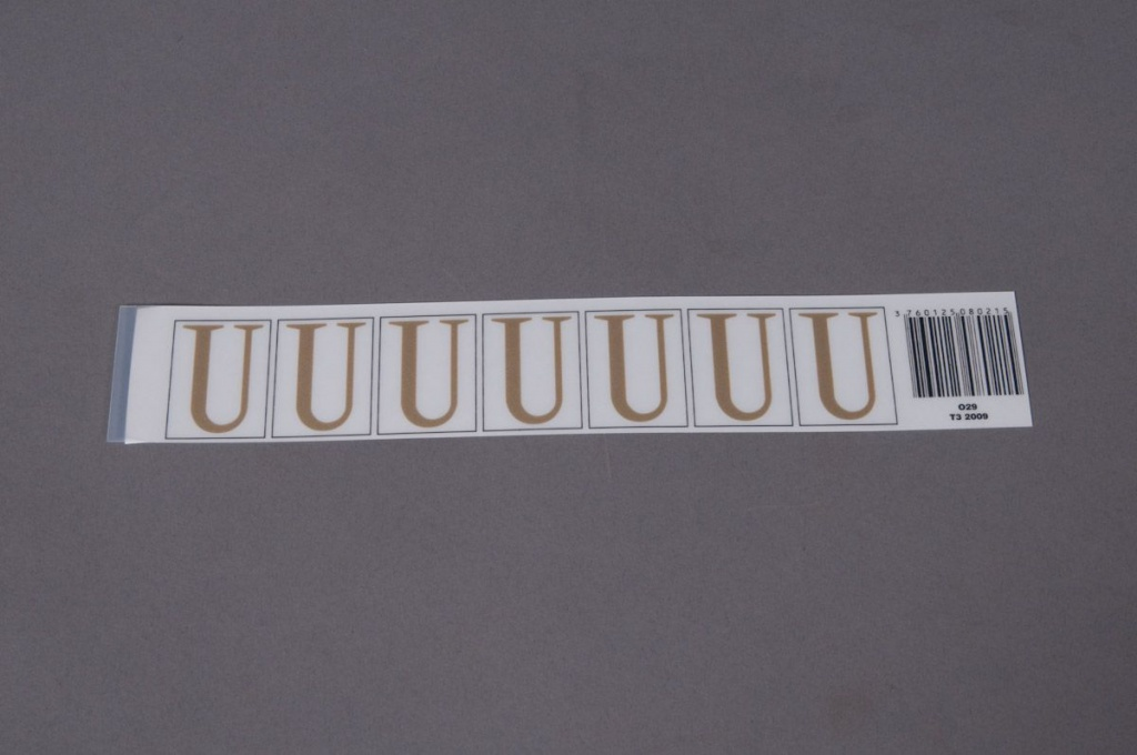 A022K4 Set of 50 letters U 33mm