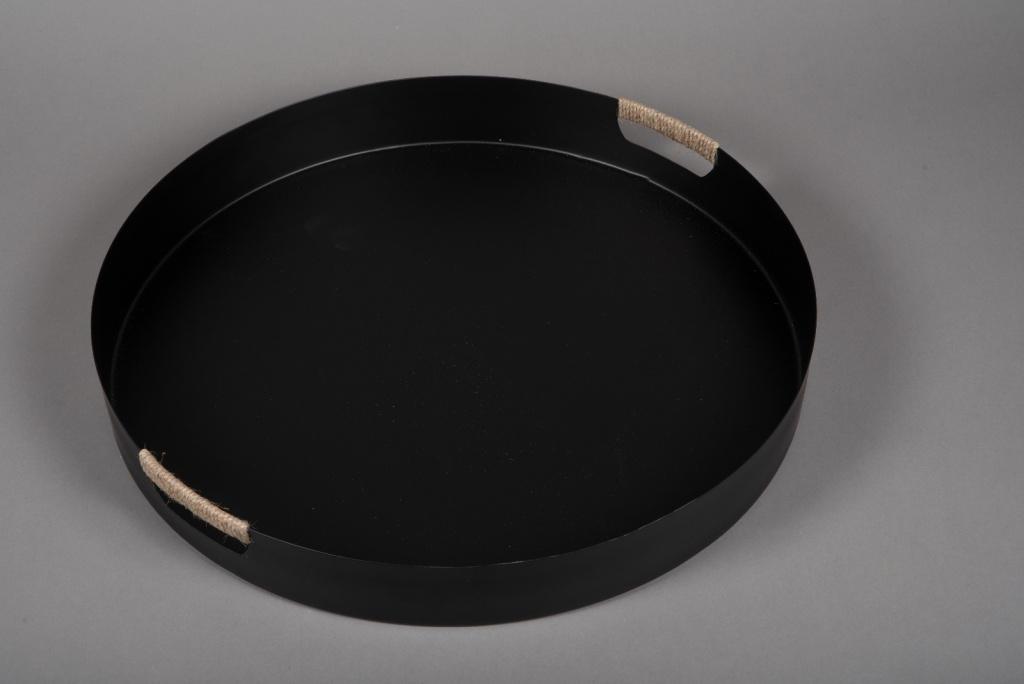 A022KU Plateau en métal noir D51.5cm