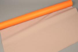 A022M9 Rouleau papier mat orange taupe 80cm x 40m