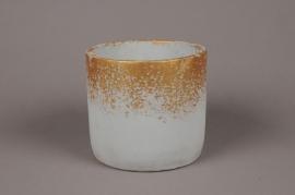 A022OZ Grey ceramic planter D17cm H15.5cm