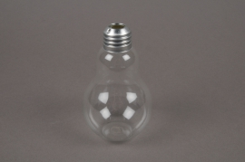 A022PM Box of 6 glass bulb vase D7 H11cm