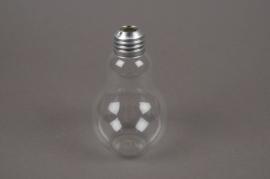 A022PM Boîte de 6 vases ampoule en verre D7 H11cm