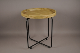 A022S0 Wooden and metal stand D60cm H64cm