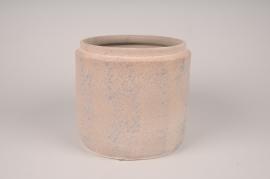 A022XD Cache-pot en céramique rose D18cm H15cm