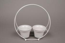 A023AY Porte-pots en zinc 8cm x 25cm H25cm