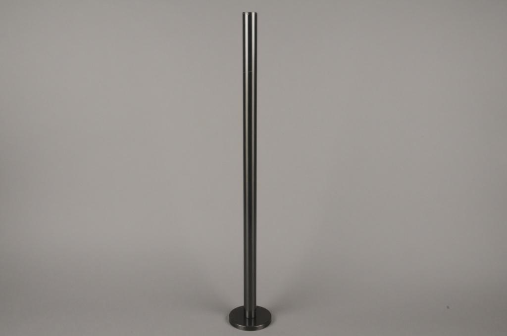 A023E0 Black metal candle holder H71cm