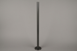 A023E0 Black metal candle holder H71cm