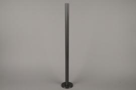 A023E0 Bougeoir métal noir H71cm
