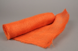 A023GM Orange burlap roll 30cm x 5m