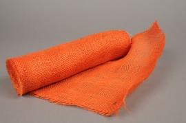 A023GM Orange burlap roll 30cm x 5m