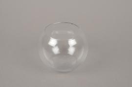 A023H9 Vase glass sphere D12cm H9.5cm