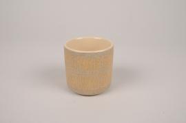 A023I4 Grey ceramic planter D7.5cm H7.5cm