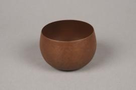 A023JY Cache-pot en métal rouille D9cm H6.5cm