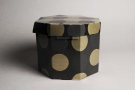A023K1 Boîtes en carton noir D27cm H20.5cm