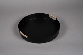 A023KU Black metal tray D41cm
