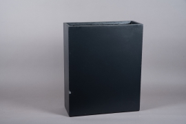 A023NM Black fiberglass tall planter 22cm x 61cm H72cm