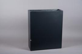 A023NM Jardinière haute en fibre anthracite 22cm x 61cm H72cm