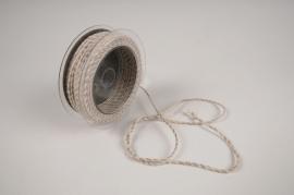 A023QL Ruban corde taupe 3mm x 25m