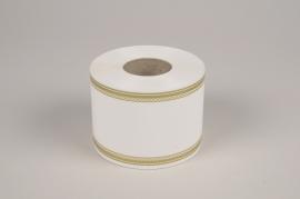 A023RB Ruban deuil blanc 75mm x 50m