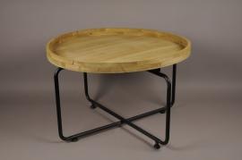 A023S0 Présentoir bois métal D74,5cm H48cm