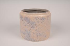A023XD Cache-pot en céramique rose D22cm H19cm