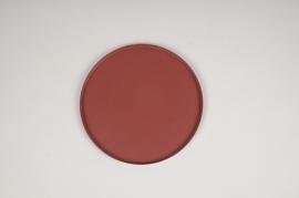 A024CC Pink metal tray D20cm