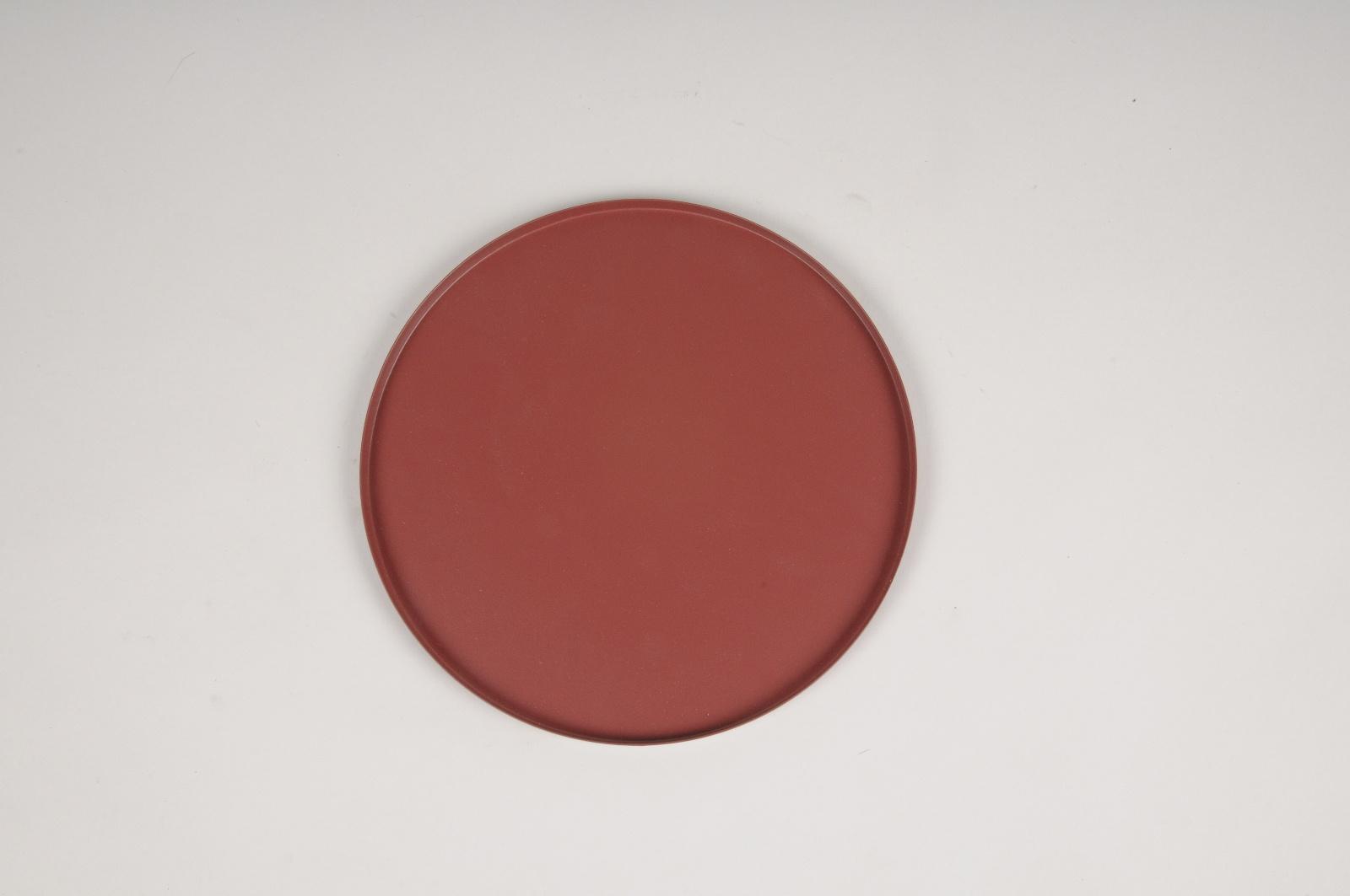 A024CC Plateau en métal framboise D20cm