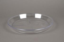 Saucer clear plastic D30cm