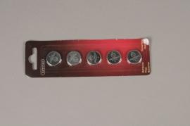 A024KI Paquet de 5 piles plates 3V