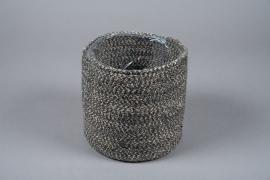 A024M5 Cache-pot en jute noir D20cm H20cm
