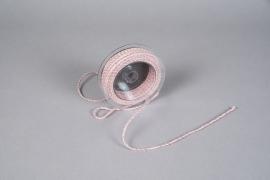 A024QL Ruban corde rose 3mm x 25m