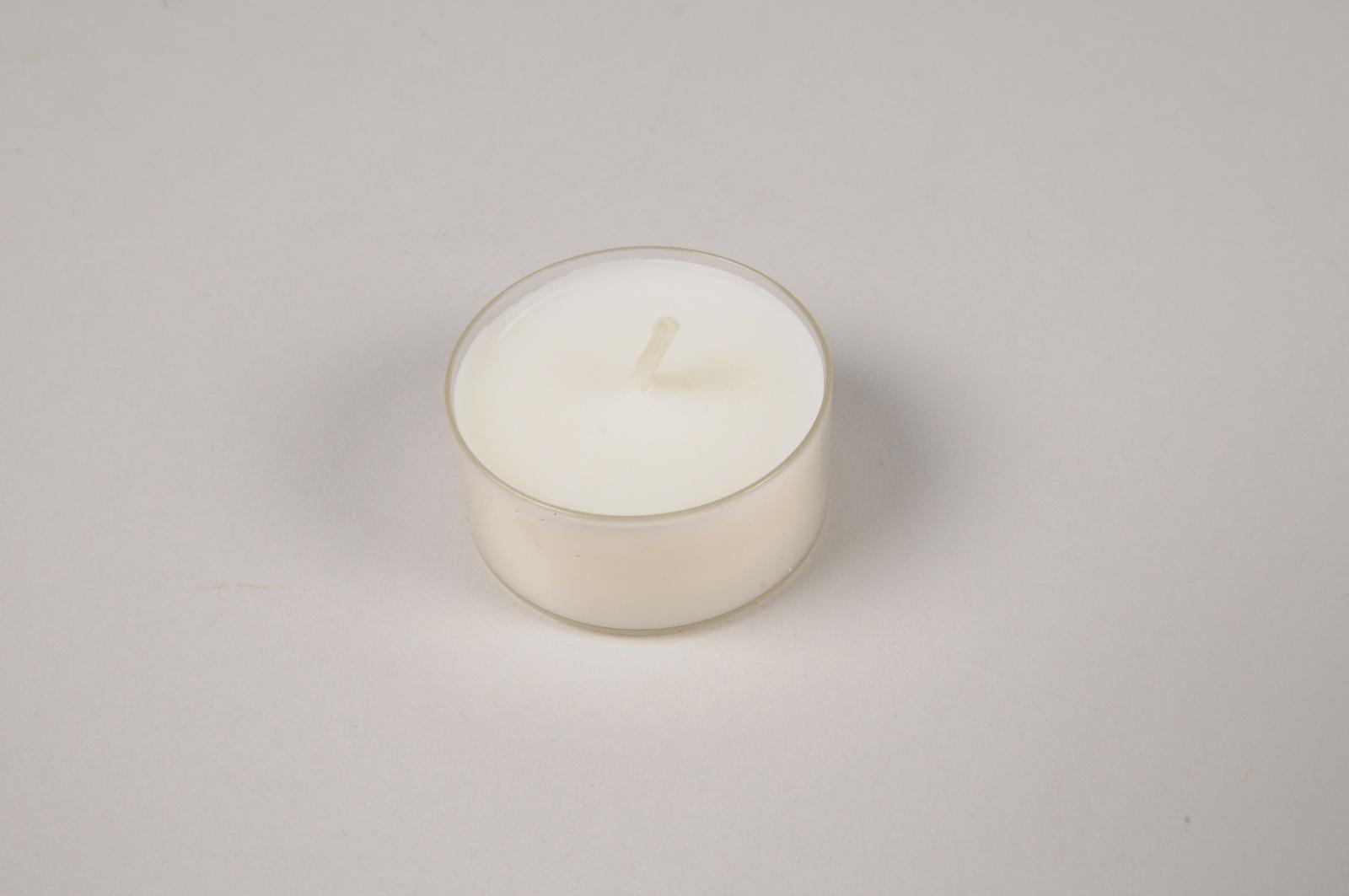 A024RP Paquet de 27 bougies chauffe-plat naturelles D3.5cm