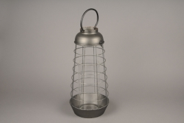 A024S0 Old looking metal lantern D23.5cm H50cm