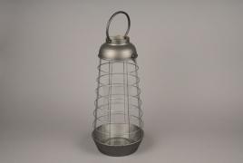 A024S0 Lanterne en métal vieilli D23.5cm H50cm