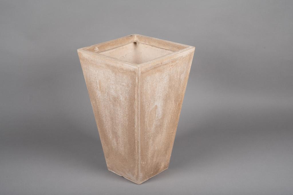 A024VV Pot fibre sable 32x32cm H53cm