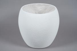 A024W7 Pot en fibre blanc D45cm H42cm